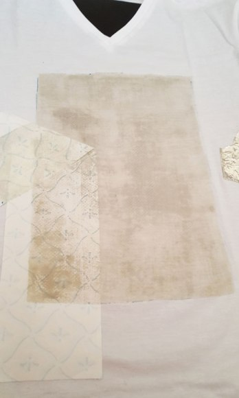 afdekken inkt met papier