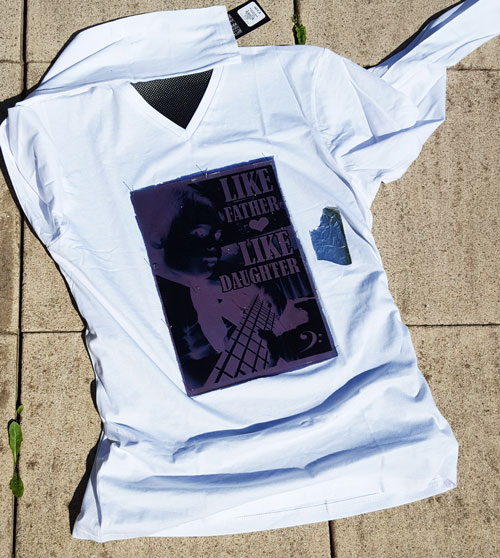 ontwikkeling shirt in zonlicht